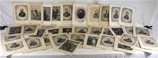 Large collection of bookplates - portraits of Civil