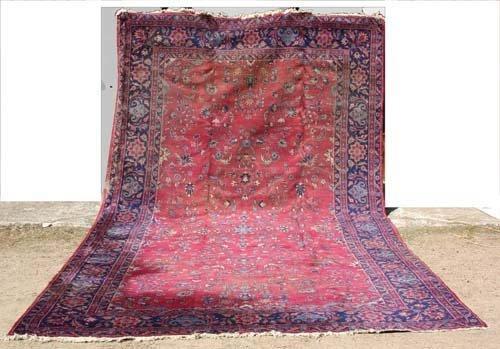 1F: 9x16 semi-antique Oriental Rug