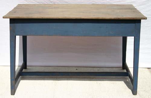 "1H: 4ft long x 33"" early 19thC Hepplewhite farm table w"