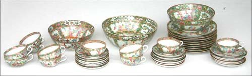 2: 41pc lot of early 20thC Rose Medallion china
