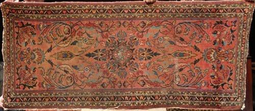 """6: 2'8""""x6'2"""" antique Sarouk Oriental Rug"""