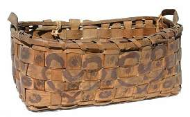 16: ca 1870 Northeast American Indian 2 handled basket