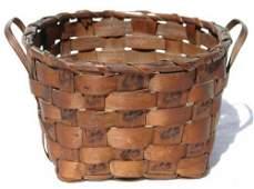 17: ca 1870 Northeast American Indian 2 handled basket