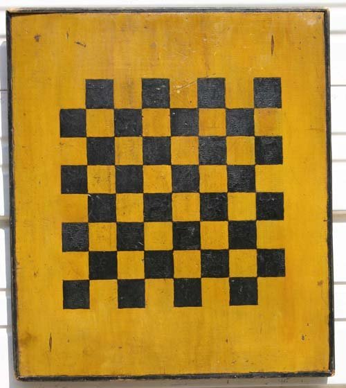 38: ca 1880 NY State black & chrome yellow painted wood