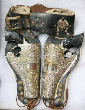 "2: ""Texas"" Western Toy gun & holster set"