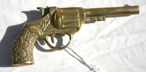 3: pat June 17, 1890 brass salesman sample gun