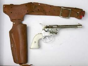 5: box lot of Western Toy gun & holster sets by Ponyboy