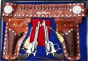 16: Fantastic Roy Rogers Western toy gun & holster set