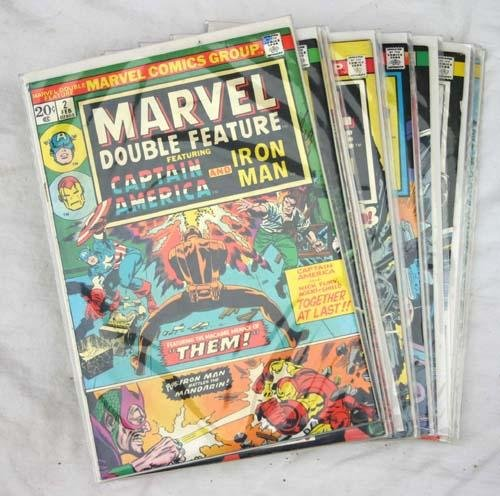 "22: Marvel comics ""Captain America"" & ""Ironman"" early 1"