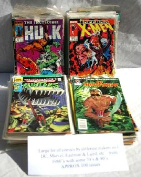 23: Large lot of comics by different makers incl DC, Ma