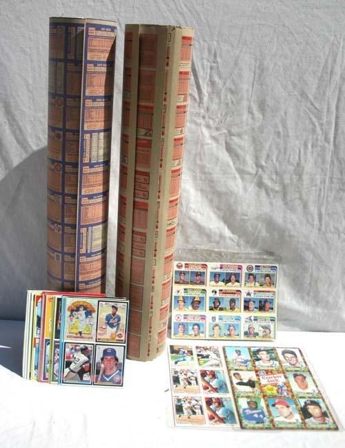 141 Uncut Baseball Card Sheet Rolls Incl 1984 Nestle