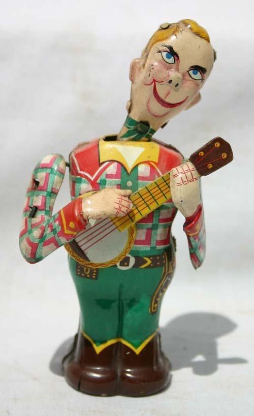 "326: Linemar tin wind up Howdy Doody - 5 1/4"" tall"
