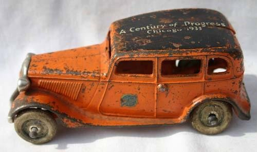 "332: Arcade antique cast iron marked ""Century of Progre"