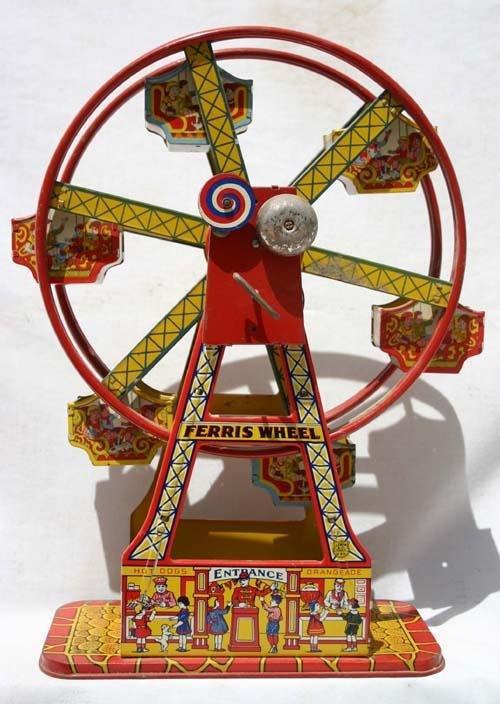 343: Chein tin wind up Ferris Wheel