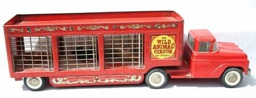 "346: Buddy L Wild Animal Circus on Wheels truck - 25"" l"