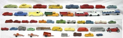 347: large lot of mostly Tootsie Toy vehicles from mini
