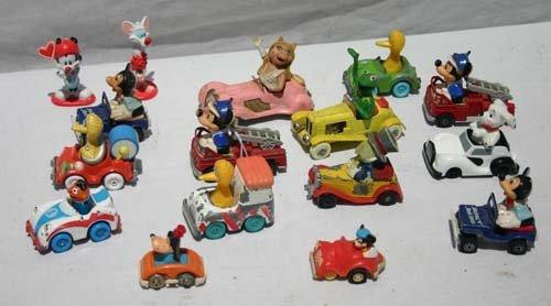 347A: lg lot of miniature vehicles w Sesame Street & Di