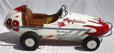 """375: """"Agajanian Speedway Special"""" Indy Racer pedal car"""