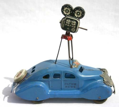 "472: Very rare ""Pathe News"" car by Marx - 9 3/4"" long x"