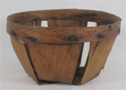 "Shaker berry basket - 3 1/2"" tall x 6 1/4"" diam"