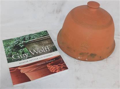 Guy Wolff terra cotta cloche together w Guy Wolff book
