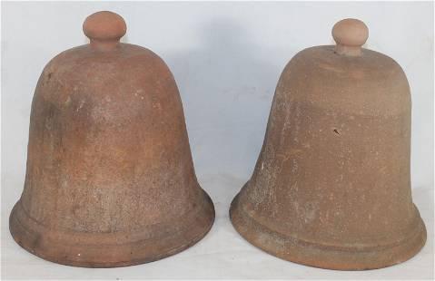 """pr of terra cotta garden cloches - 10"""" tall x 9 1/4"""""""