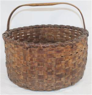 """Gathering basket w fixed handle - overall height 13"""""""