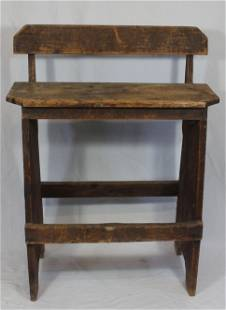"""19thC weaver's bench - as found - 36"""" tall x 27"""" wide x"""