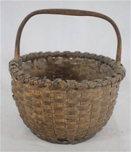 Gathering basket w fixed handle - overall height 10