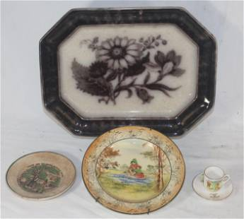 "Ceramic lot incl Mulberry platter 10 1/4""x13 1/2"";"
