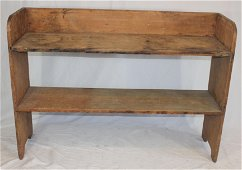 """Antique bucket bench w traces of old paint - 36 1/2"""""""