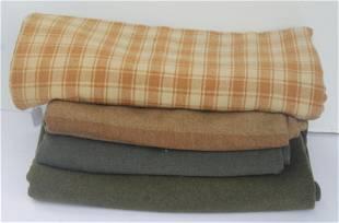 Wonderful mustard & natural woven blanket together w 3