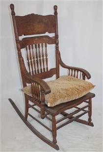 """Victorian oak rocker - 44"""" tall x 21"""" wide"""