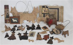 Contemporary primitive lot of hand made items incl