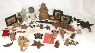 Contemporary primitive lot of hand made items
