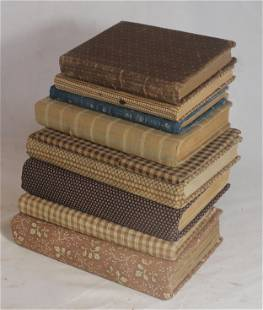 lot of 9 cloth covered books