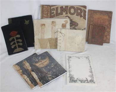 lot of 8 journals w fabric covers plus a scrap book of