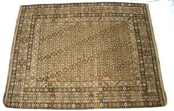 "2: antique 4'2""x5'2"" Shirvan Oriental Rug"