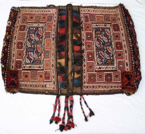 4: fabulous lg antique flat woven Bakhtiari/Soumak bag