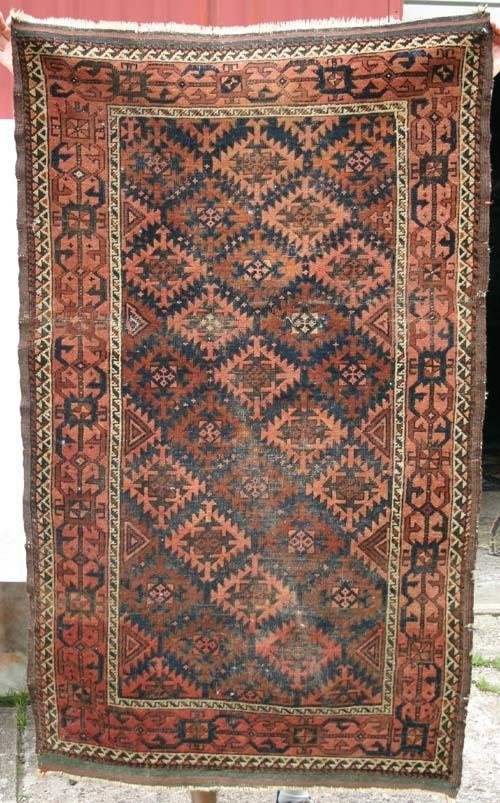 5: 3x5 antique Balouch Oriental Rug