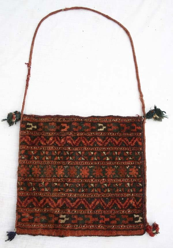 "7: antique Balouch bag - 11 1/2""x12 1/2"""