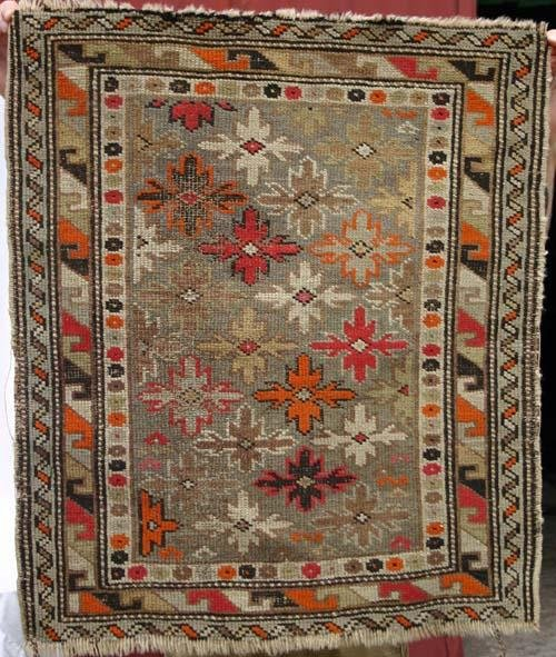 "8: antique 2'6""x2'2"" Hamadan Oriental Rug"