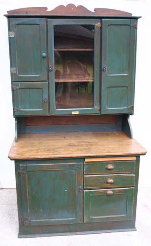 "19C: Sgnd ""Boone Kitchen Cabinets"" Hossier cabinet"