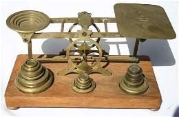 286A: antique S. Mordan & Co London antique brass scale