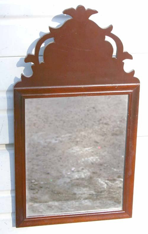 19: cubicle lot of early American items incl mirror sco