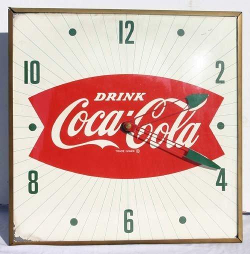 2: 1950's vintage Coca-Cola advertising clock