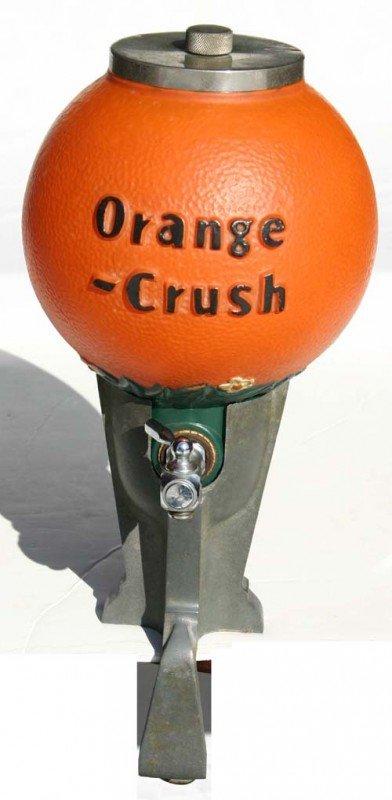 "8: fine vintage ""Orange Crush"" soda fountain dispenser"