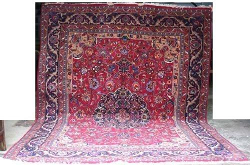 "11: Fine quality 9'10""x13' semi-antique signed Persian"