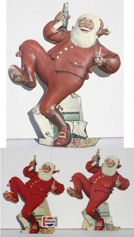 13: lot of 3 Pepsi Norman Rockwell Santa Clause adverti