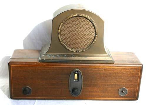 "19: antique RCA ""Radiola"" #18 radio w vintage RCA speak"